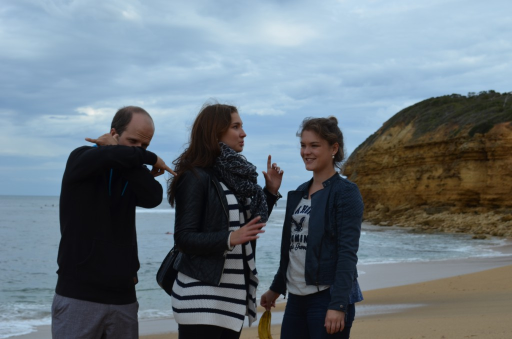 Bells Beach and friends. Sometimes they like my camera, sometimes, they don't.