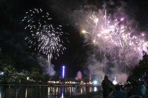 Les feux d'artifices du Moomba Festival