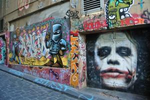 Les artistes peuvent laisser libre court à leur talent dans les ruelles de Melbourne